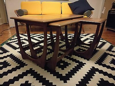 G Plan - GPlan - 1960s Mid Century Retro Astro Teak Nest of 3 Tables - Vintage