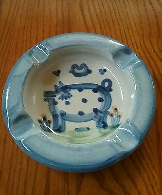 M A Hadley COUNTRY SCENE PIG Ashtray