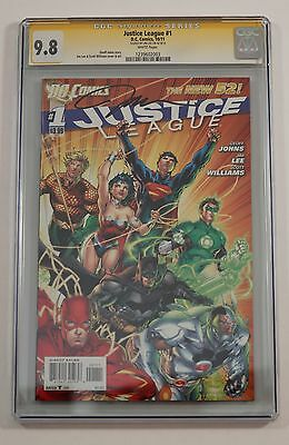 JUSTICE LEAGUE #1 New 52 CGC 9.8 SS JIM LEE SIGNED! (August 2012,DC) MOVIE SOON!