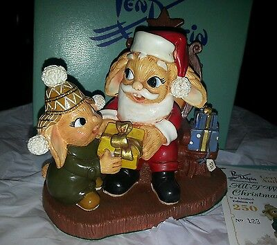 Pendelfin Bunny Rabbit Figurine - All I Want For Christmas - Limited Edition New