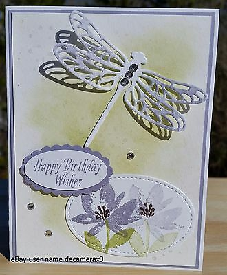 Stampin Up Dragonfly Dreams, Happy Birthday, Thank You Handmade Card Kit,