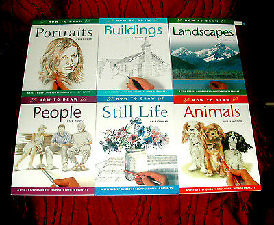 Drawing How To Draw COMPLETE SET Of 6 x Books Art Drawing Books