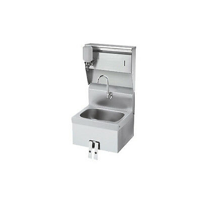 "Krowne Metal HS-16 16""W Wall Mount Hand Sink with Stainless Steel Skirt"