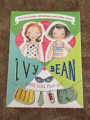 Brand New Never Opened Ivy + Bean Paper Doll Play Set 2 Dolls 100 Stickers Plus
