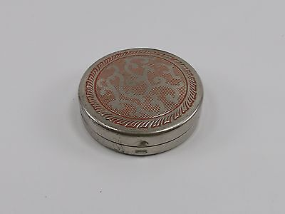 Vintage Woodworth FIANCEE Blush Rouge Powder Compact 1920s Pan Makeup