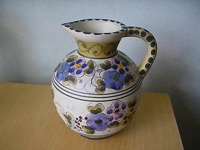 Pottery jug, hand painted from Portugal cica 1960's