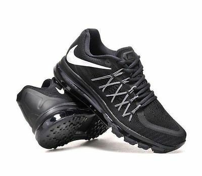 New Nike Air Max 2015 Men's Running Training Black Shoes 698902 001