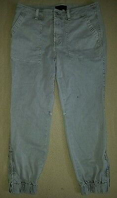 J.CREW Women's Size 8 Slim Cargo Pant Stretch Chino, Cuff Ankle Pants