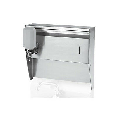 "Krowne Metal H-111 16""W Towel & Soap Dispenser for Wall Mount Hand Sinks"