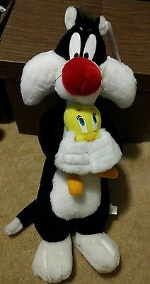 "Sylvester holding Tweety 22"" plush new with tag Rare! ACE toys"
