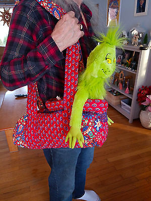 Small Pet Carrier  Red Paisley Quilted and Padded