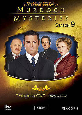 Murdoch Mysteries: Season 9 (DVD, 2016, 5- Disc Set). NEW, FREE SHIPPING.