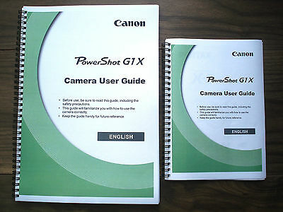 ~PRINTED~ Canon Powershot G1 X Full User guide Instruction manual A4 or handy A5