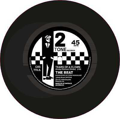 "Ska 2Tone Printed Cur Exterior Vinyl 7"" 178mm Decals The Beat Tears Of A Clown 2"