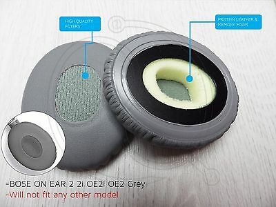 BOSE ON EAR 2 2i OE2i OE2 Replacement Ear Cushion pads in Grey full backing