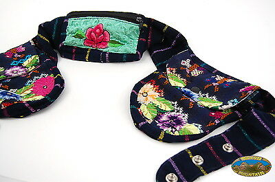 Support Our Orphanage: Guatemalan Huipil Fanny Pack Hip Pouch Utility Bag Hippy