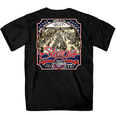 SPM1607 Official 2017 Sturgis Main St. Photo Black T Shirt Size XXL