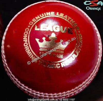 REDUCED TO CLEAR 3 X LEAGUE RED Hand Sewn 2 Piece PRACTICE Cricket Balls BY OSA