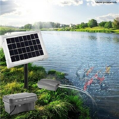 NEW Solar Powered Air Pond Pump For Fish Pond Oxygenation Use & Outdoor Fishing