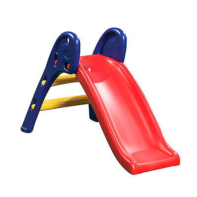 Kids Childrens Slippery Dip Qwikfold Fun Slide Backyard Playground Gym Equipment