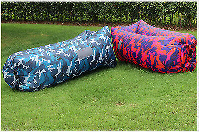 High Quality  Camouflage Camping Lounger Sofa Inflatable Sleeping Bag Laybag Bed