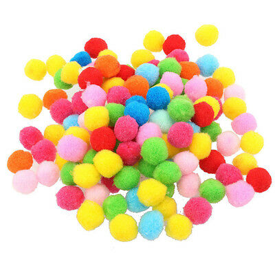 New Fluffy Pom Poms 100 Per Package Colorful Plush Balls DIY Children Toys Games
