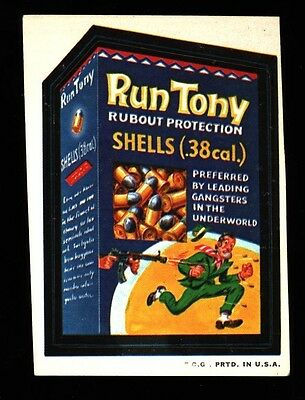 1973 Topps Wacky Packages Run Tony 2Nd Series Vg-Ex+