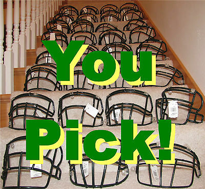ONE (1) - YOUR CHOICE Green Bay Packers Game WORN USED Face mask - 17 FOR SALE!