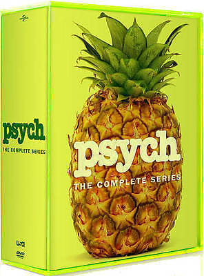 Brand New Sealed Psych: The Complete Series Seasons 1-8 (DVD, 31-Disc Box Set)