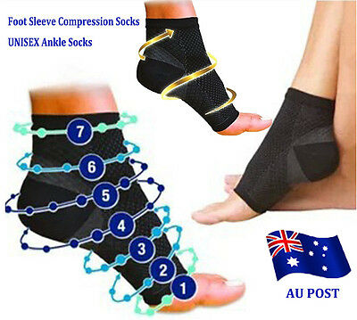 Foot Sleeve Plantar Fasciitis Compression Socks Support Swelling Heel Ankle BO