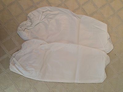 """Tyvek Disposable 18"""" Protective Arm Sleeves Lot of 5 Pair 10 Pieces"""