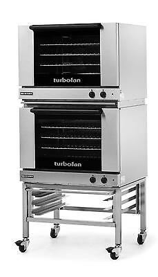 Moffat E28M4/2C Dbl Electric Convection Oven Full Size 4 Pan w/ Mobile Stand