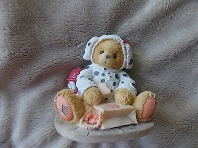 Autumn 1995 Cherished Teddies PAT in basket of leaves #141313 Hillman Fig
