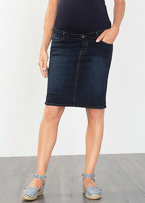 NEW - Esprit - Over Bump Denim Maternity Skirt in Dark Wash