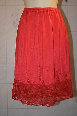 """New 2XL 29"""" red half slip 5"""" of lace"""