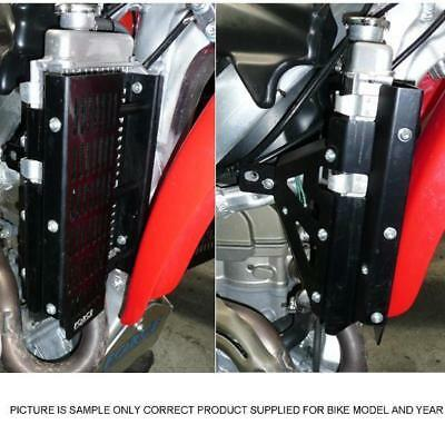 Honda CRF450R 2009 - 2012 Force Radiator Guards Black Anodised