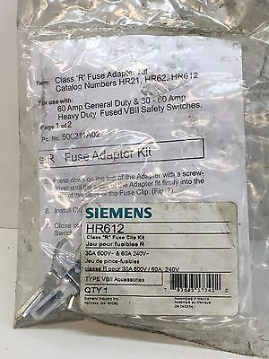 "Siemens HR612 Class ""R"" Fuse Clip Kit for 30A 600V, 60A 240V Fuses"