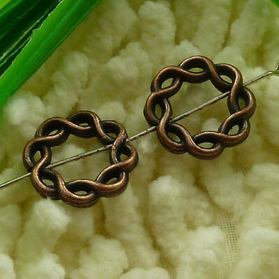 free ship 50pcs Antique copper ring spacers 15x15mm #2893