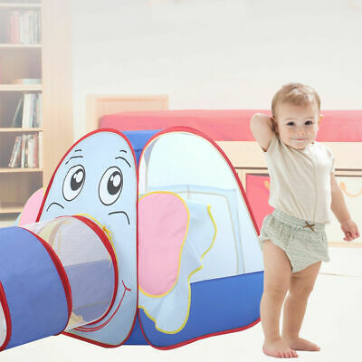 Kids Baby Play Tent Elephant Tunnel In/Outdoor Portable Foldable Children Gift