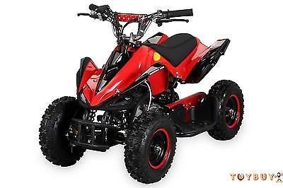 Kinder Mini Quad ATV 49 cc Racer Pocketquad 2-takt Vollausstattung Rot NEU
