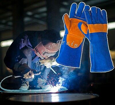 Fireproofing Glove Anti High Temperature Heat Resistant Leather Welding Gloves