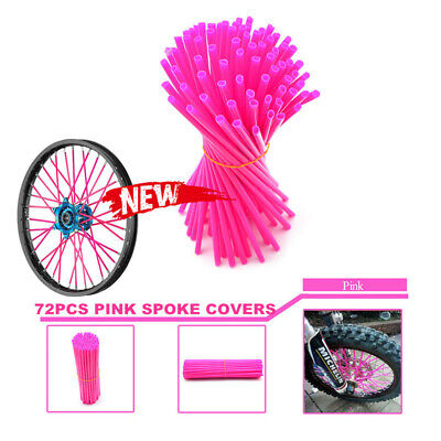 72x Pink Spokes Wrap Guard Skin Cover 4 CR YZ KX CRF YZF KLX EXC Dirt Bike
