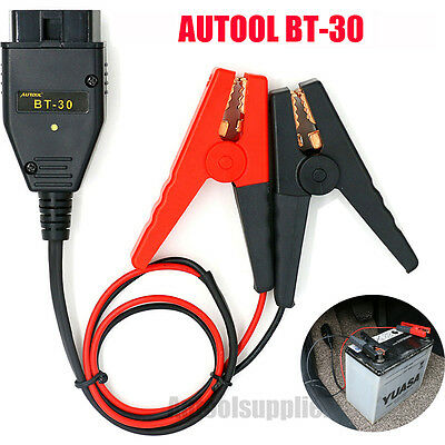 AUTOOL BT-30 OBDII Auto ECU Emergency Power Supply Battery Clip Battery Tool