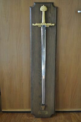 THE SWORD of CHARLEMAGNE 24K Gold Electroplate from Charles the Great Wall Mount