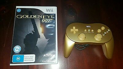 Nintendo Wii Goldeneye Game With Limited Edition Gold Controller!