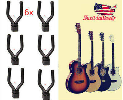 6pcs Wall-Mounted Hanger Hook Stand Holder for Guitar Violin Ukulele Bass