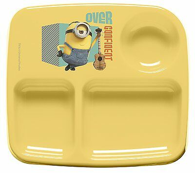 Zak Designs Toddlerific 3-Section Toddler Plate, Minions