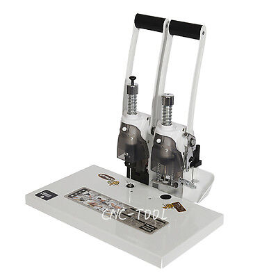 40mm Hole Punch Binding Machine w/ Temp Display for Invoice File Document 220V