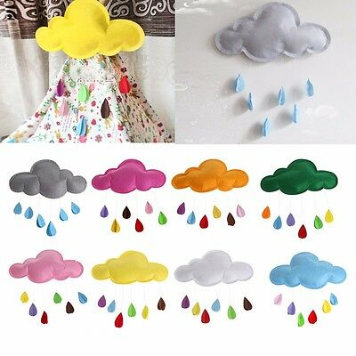 Baby Kids Room Nursery Home Cloud Raindrop Wall Mural Decor Stickers Decal new