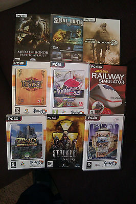 Lot of 9 PC Games (used)